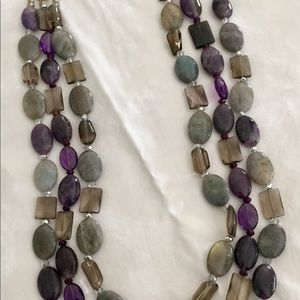 Beautiful custom made stone bead necklace